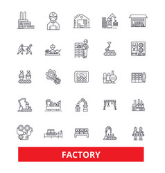 factory warehouse facility workshop plant vector image