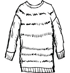 Female winter pullover vector