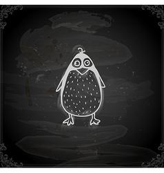 Hand drawn penguin vector
