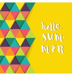 Hello summer super colorful design vector