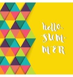 Hello summer super colorful design vector image