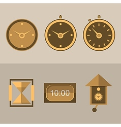 Icons for clocks vector image