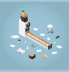 isometric file storage vector image vector image