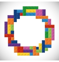 Lego icon abstract circle figure graphic vector