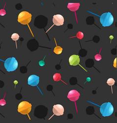 lollipop pattern cartoon dessert candy vector image vector image