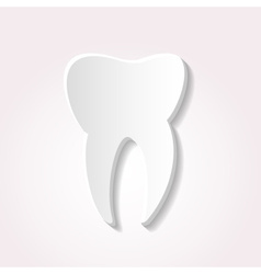 One tooth from paper style icon eps10 vector