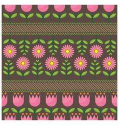 Pink Flower Pattern vector image