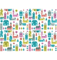 Seamless urban pattern vector