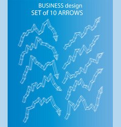 Set of arrows vector