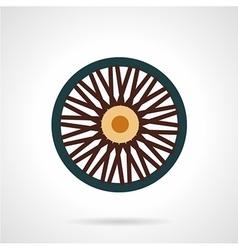 Single wheel flat icon vector