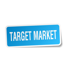 Target market square sticker on white vector