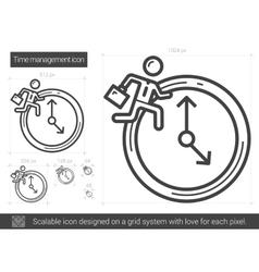 Time managment line icon vector image vector image