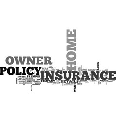 What does your home owner insurance cover text vector