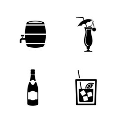 wine simple related icons vector image