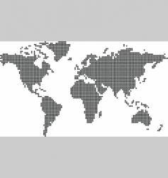 world map dot vector image