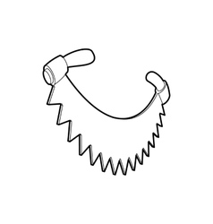 Saw with two handles icon outline style vector