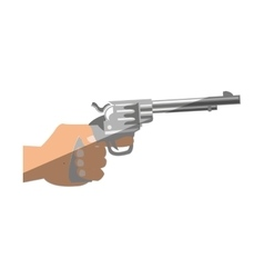 Isolated gun design vector