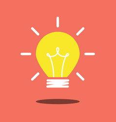 Idea light icon vector