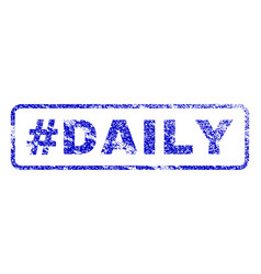 Hashtag daily rubber stamp vector