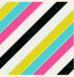 Retro colors diagonal lines background pop-art vector