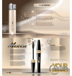 Digital golden glass bottle lotion vector