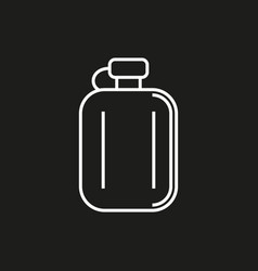 Hip flask simple icon on black background vector