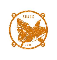 Shark emblem vector