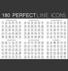 180 outline mini concept icons symbols of business vector image vector image