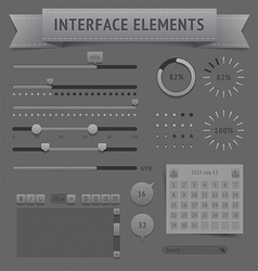 User interface elements vector image