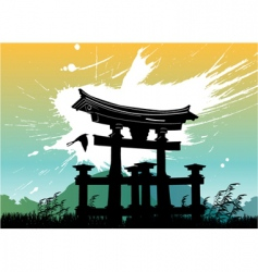 Japan temple vector