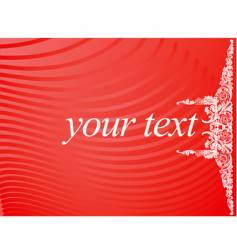 red white curves text banner vector image