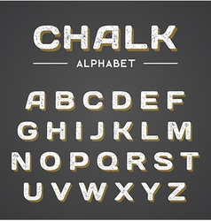 3D Chalk Alphabet vector image vector image