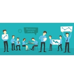 Office startup company people working vector