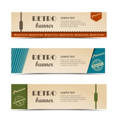 Collection retro horizontal banners template vector