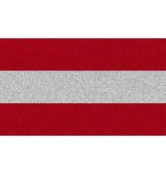 Flags austria on denim texture vector
