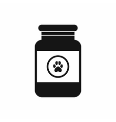 Treatment solution for animals icon simple style vector