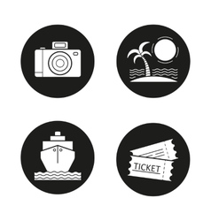 Travelling icons vector