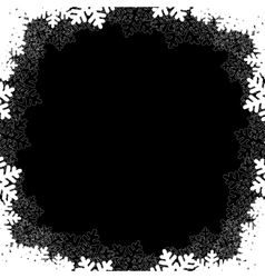 black christmas frame vector image