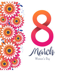 Bright postcard on the 8th of march vector
