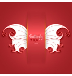 Card with abstract butterfly wings vector