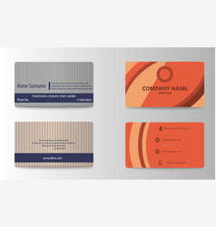 creative and clean double sided business card vector image vector image