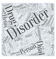 Dual diagnosis word cloud concept vector