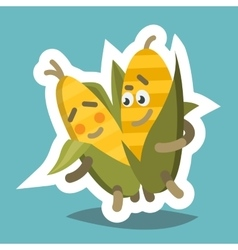 Emoticom Icon Romantic Corn vector image vector image