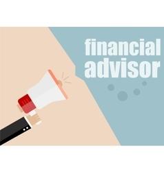 Financial advisor megaphone flat design vector