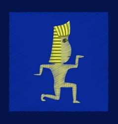 Flat shading style icon mummy halloween monster vector