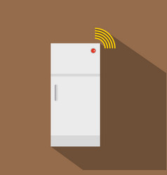 Fridge icon flat style vector