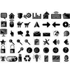 Icons pc black vector