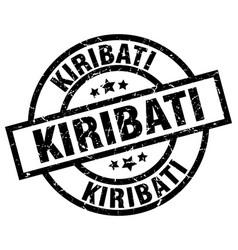 kiribati black round grunge stamp vector image vector image