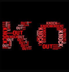 Knock out black bg vector