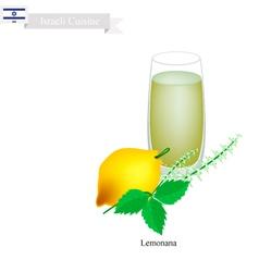 Lemonana or in Israeli Frozen Mint Lemon Juice vector image